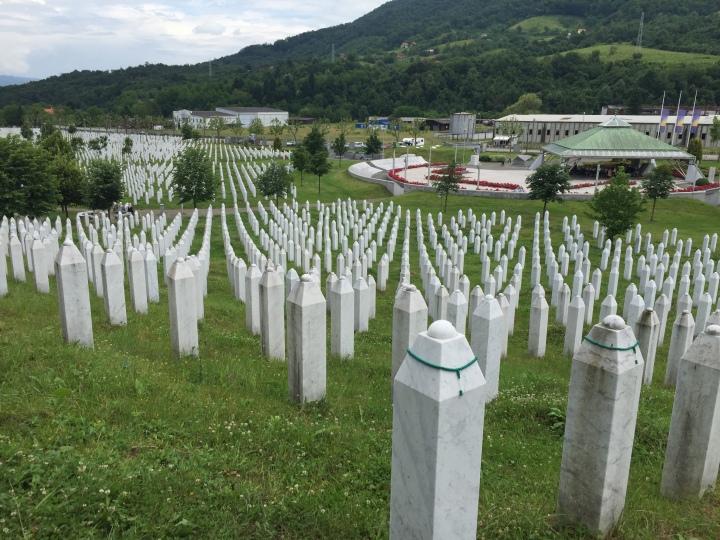 Srebrenica Memorial in Bosnia